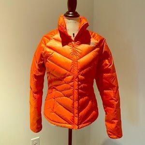 The North Face orange puffer coat SM